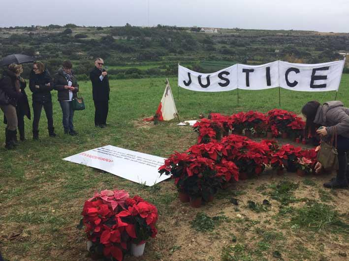 Mourners pay tribute to Daphne Caruana Galizia two months after her assassination