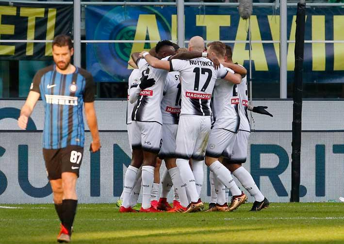Updated: Inter's unbeaten start ends with 3-1 home defeat to Udinese