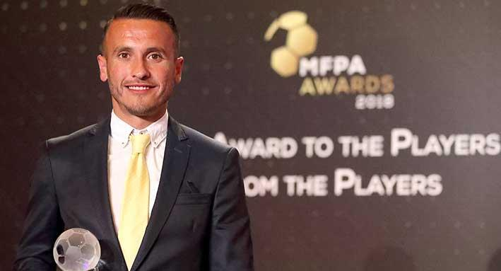 Gzira United's Andrew Cohen was voted by the players themselves as the MFPA Best Player. Photo: Domenic Aquilina
