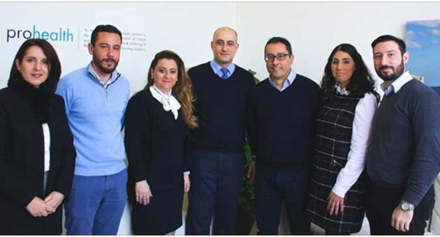 Loyal employees who have been at Prohealth 10 years and more. From Left to Right: Jackie Vella, Kenneth Ellul, Cher Santospagnuolo, Michael Montebello, Peter Apap CEO, Ritianne Cutajar & Noel Saliba Thorne