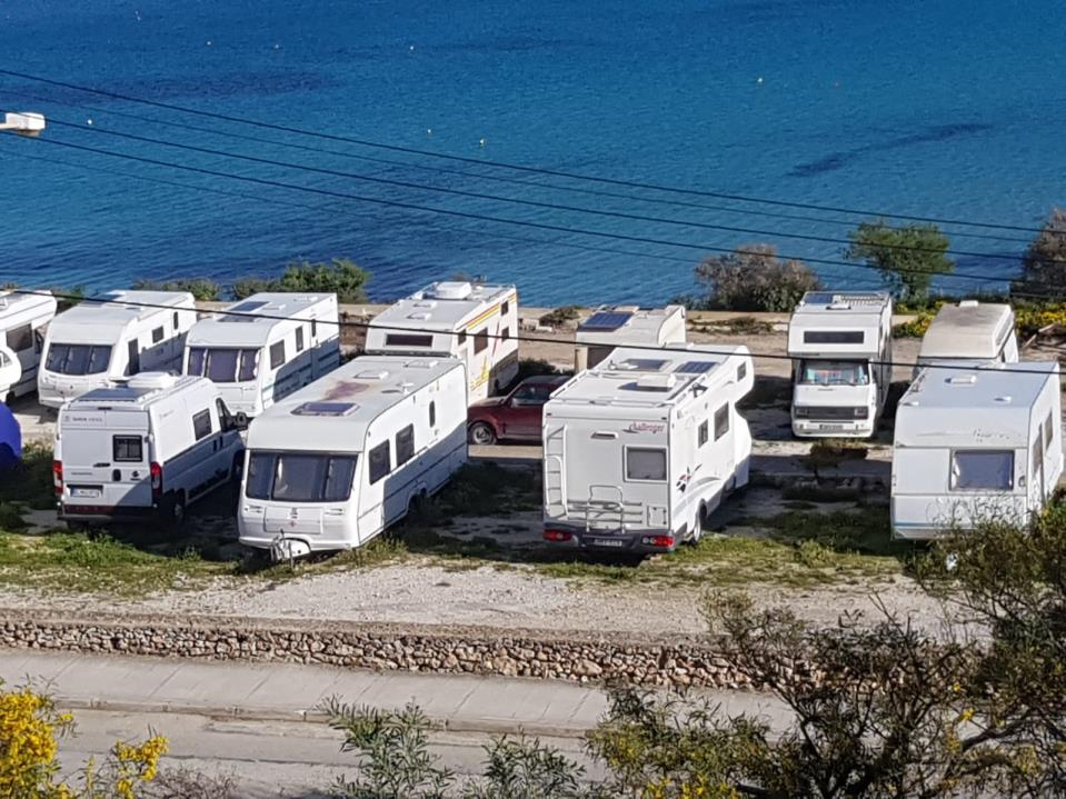 Caravans Parked In Mellieha Car Park Despite Not Being Permitted To