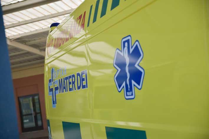 Motorcyclist in danger of dying after head-on collision