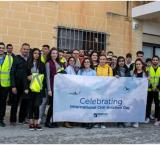 Students and lecturers from MCAST'S Aviation Centre celebrating World Aviation Day at MEDAVIA.