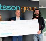 Betsson Group partners with Saggar. From left to right: Lena Nordin (CHRO, Betsson Group), Jesper Svensson (co-Founder of the QLZH Foundation).CEO, Betsson Group), and Steve Mercieca