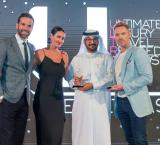 From left to right: Gethin Jones, British broadcaster and television presenter; Kirsty Gallacher, British television presenter; Adel Al Redha, Chief Operating Officer for Emirates Airline; and Ronan Keating, Irish singer, songwriter and broadcaster.